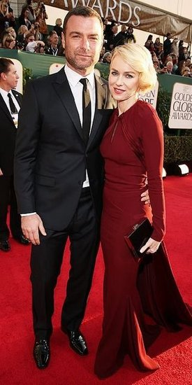 Liev Schreiber and Naomi Watts(2013 Golden Globes Awards)