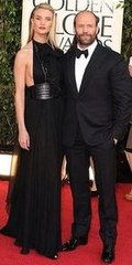 Rosie Huntington-Whiteley and Jason Statham(2013 Golden Globes Awards)