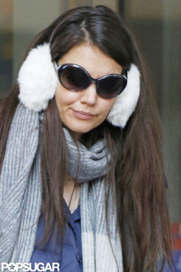 Katie Holmes hung out in NYC.