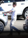Brian Austin Green visited a Land Rover dealership.