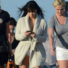 Pregnant Kim Kardashian Wears a Bikini at the Beach