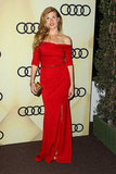 Connie Britton was a vision in red, courtesy of her more dramatic off-the-shoulder crimson-hued gown and voluminous waves.