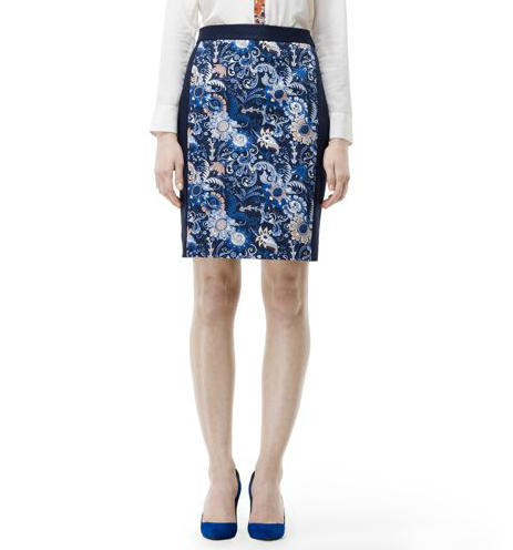 A bright pop of paisley invigorates this Club Monaco Melyssa Pencil Skirt ($130) and will look fantastic all Winter with tights — then right into Spring with bare legs and bright pumps.