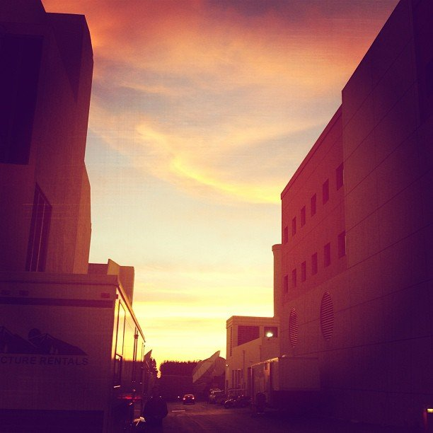 Brittany Snow posted a sunset view from work. Source: Instagram user brittsnowhuh