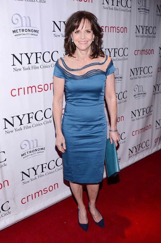 Sally Field wore a blue dress.