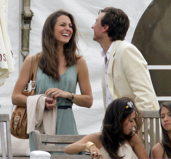 Kate Middleton chatted with a pal while watching Prince William and Prince Harry play in the Chakravarty Cup polo match in July 2010.