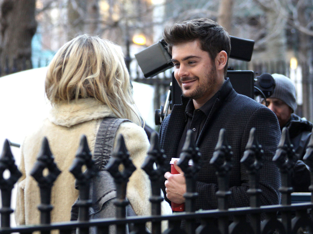 Zac Efron Kisses and Dashes With His New Costar