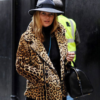 Kate Moss in Her Leopard Print Coat | Pictures