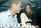 Kate smiled at her prince after a night out at London's Boujis club in September 2006.