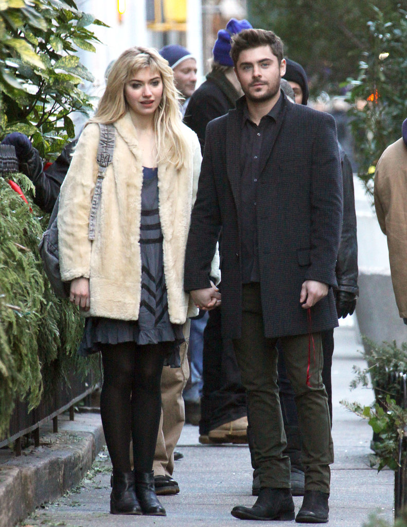 Zac Efron and Imogen Poots filmed Are We Officially Dating? in New York.