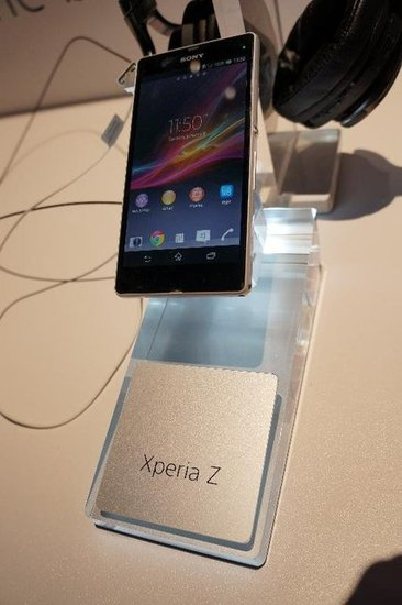 The 4G LTE-capable Xperia Z has a 5-inch 1080 x 1920 full HD display and runs on a 1.5GHz quad-core Snapdragon S4 processor with 2GB RAM.