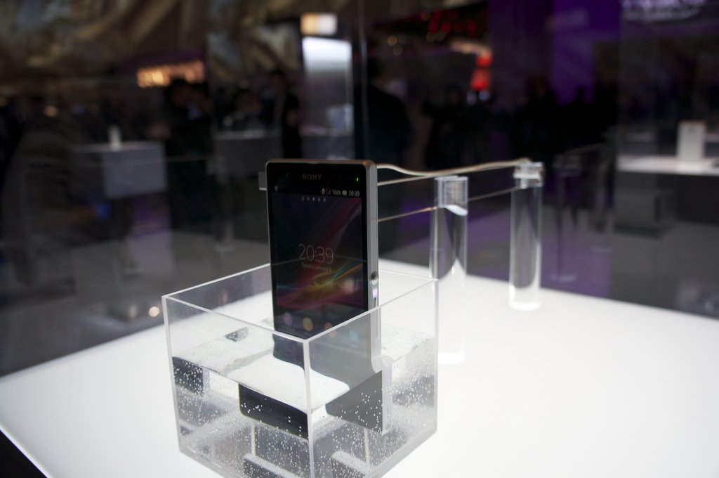 A quick dip in the bathtub or toilet won't phase the Xperia Z, which can be submerged in 3.2 feet of freshwater for up to 30 minutes — and survive. The audio, micro USB, and SIM ports are covered, and tempered glass and anti-shatter film cover the entire body of the phone.