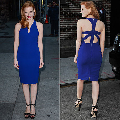 Jessica Chastain Oscar de la Renta Dress | Jan. 8, 2013