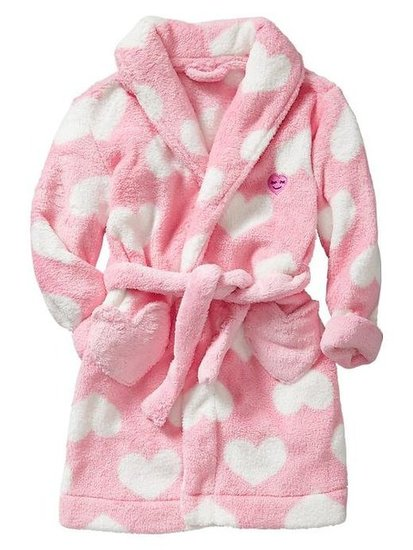 Gap Heart Fleece Robe