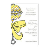 Chevron Rattle Invitations