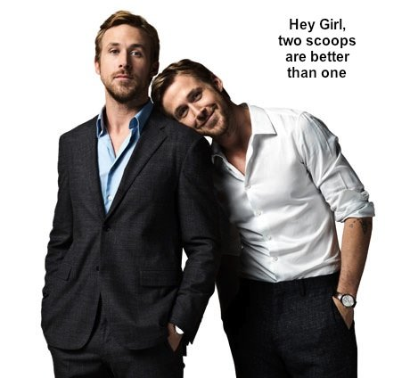 What's better than one Ryan Gosling? Two Ryan Goslings! Thanks, F**k Yeah! Ryan Gosling.