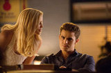 Looks like Stefan isn't psyched about whatever evil plan Rebekah has.