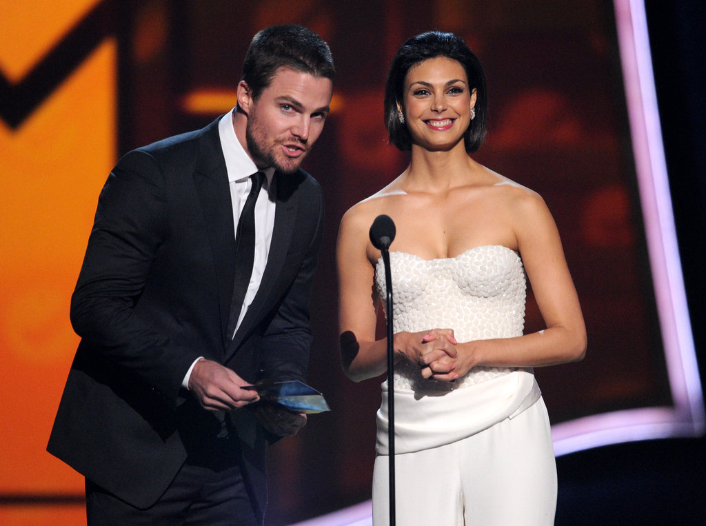 Stephen Amell and Morena Baccarin