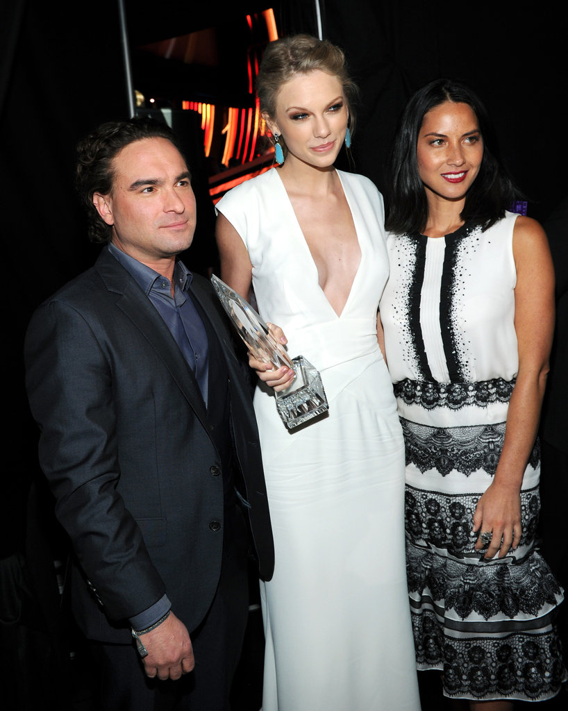 Johnny Galecki, Taylor Swift, and Olivia Munn