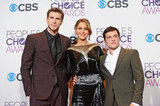 Liam Hemsworth, Jennifer Lawrence, and Josh Hutcherson