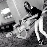 Model Coco Rocha ran off with her own cardboard cutout. Source: Instagram user cocorocha