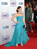 Rachel Leigh Cook donned an aqua gown.
