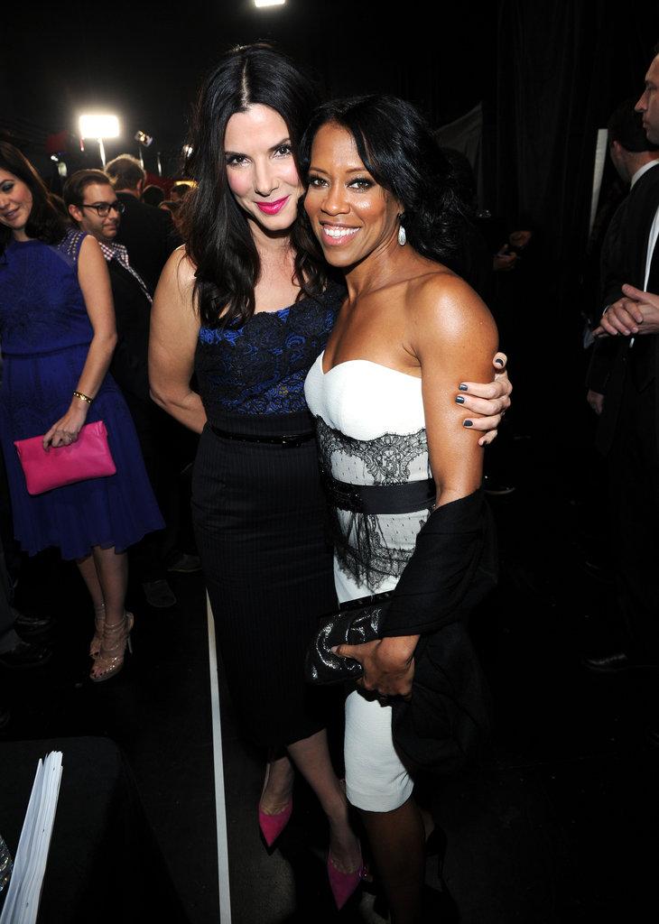 Sandra Bullock and Regina King wore strapless dresses.