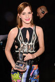 Emma Watson accepted an award for favorite dramatic movie actress.