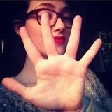 Emmy Rossum counted down the days until the new season of Shameless. Source: Instagram user emmyrossum