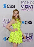 Chloë Moretz Goes Neon For the PCAs