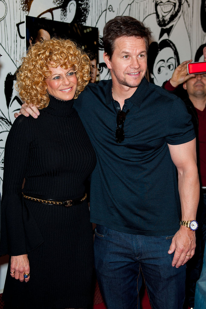 Mark Wahlberg posed with Sharon Pickenson at the Philadelphia premiere of his Broken City.