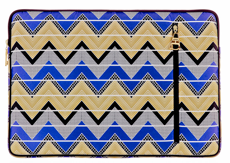Trina Turk M-Edge Laptop Sleeve in Zigzag