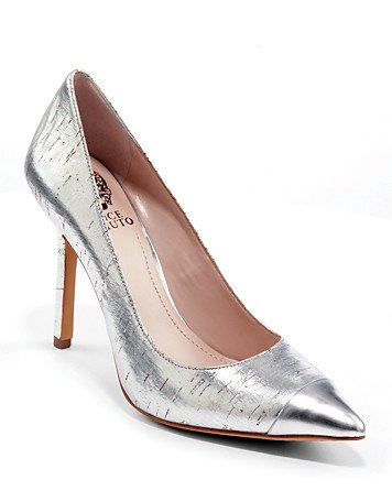 If your job leans more toward the creative side, pair these Vince Camuto cap-toe pumps ($98) with black cropped trousers and a matching sharp blazer for a look that's simultaneously sharp yet chic.