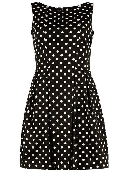We love the subtle sweetness of this Dorothy Perkins Black Spot Lantern Dress ($69). It can also be edged up with a hot pair of heels and a great statement necklace.