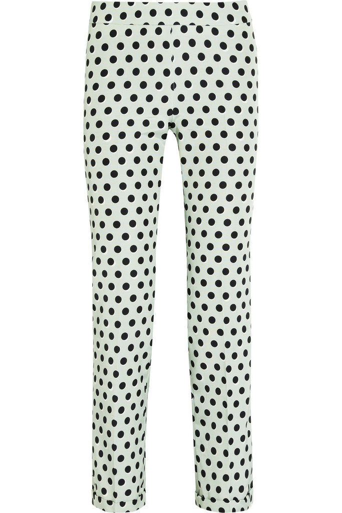 Wear these retro-chic Rochas Polka-Dot Twill Straight-Leg Pants ($825) with a black turtleneck and ballet flats for a dose of Audrey Hepburn-inspired glam.