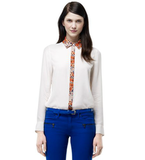 Club Monaco's Harley paisley blouse ($130) will add a pop of interest to a pair of straight-leg trousers or a slim-fit pencil skirt.