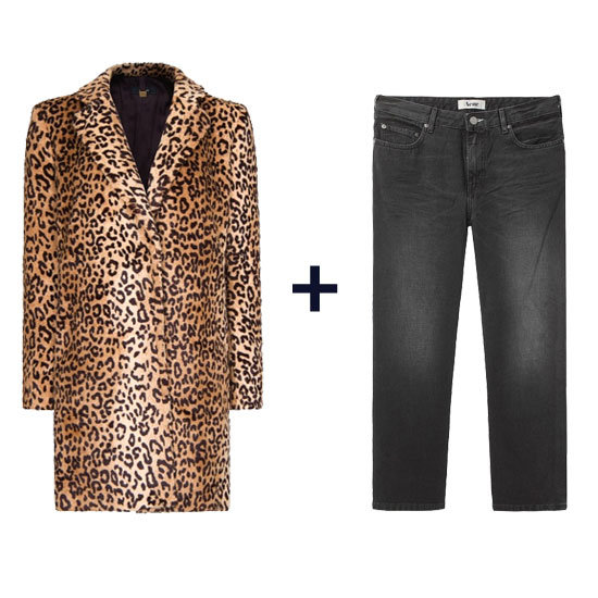 Want to channel the Kate Moss effect? Style a cool leopard-print coat with black slouched jeans and pointy-toe heels for the ultimate London-girl look. Get the look: Mango Coat ($70, originally $150) Acne Pop Vintage Cropped Boyfriend Jean ($125, originally $250)