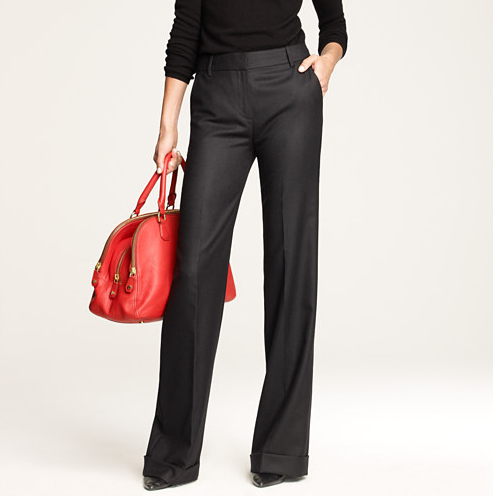 J.Crew's Hutton flannel trousers ($90, originally $158) are a timeless investment. Finish the look with a thin turtleneck sweater, a statement necklace, and point-toe shoes for a streamlined effect.