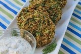 Herb Quinoa Patties with Lemon Dill Sauce