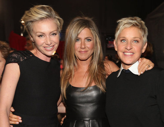 Portia de Rossi, Jennifer Aniston, and Ellen DeGeneres