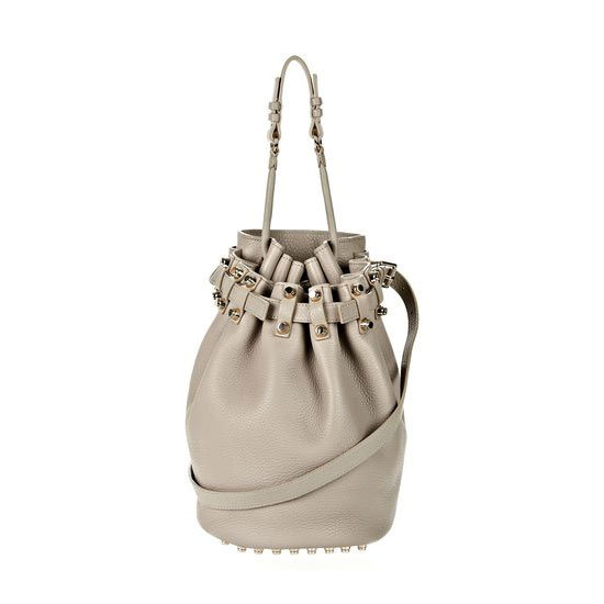 """This year I want to switch up my day bag and try my hand at a new shape— the drawstring bucket Diego by Alexander Wang. I've wanted it for months and I'm pretty sure I've dropped enough hints for my husband to """"surprise"""" me! — Marisa, publisher Bag, approx $858, Alexander Wang"""