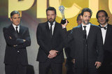 George Clooney, Ben Affleck, Grant Heslov, and Alexandre Desplat