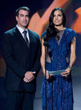 Rob Riggle and Famke Janssen