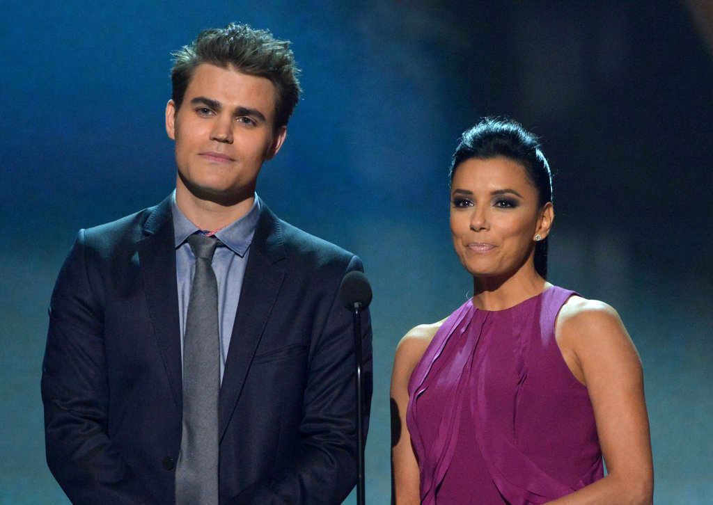Paul Wesley and Eva Longoria