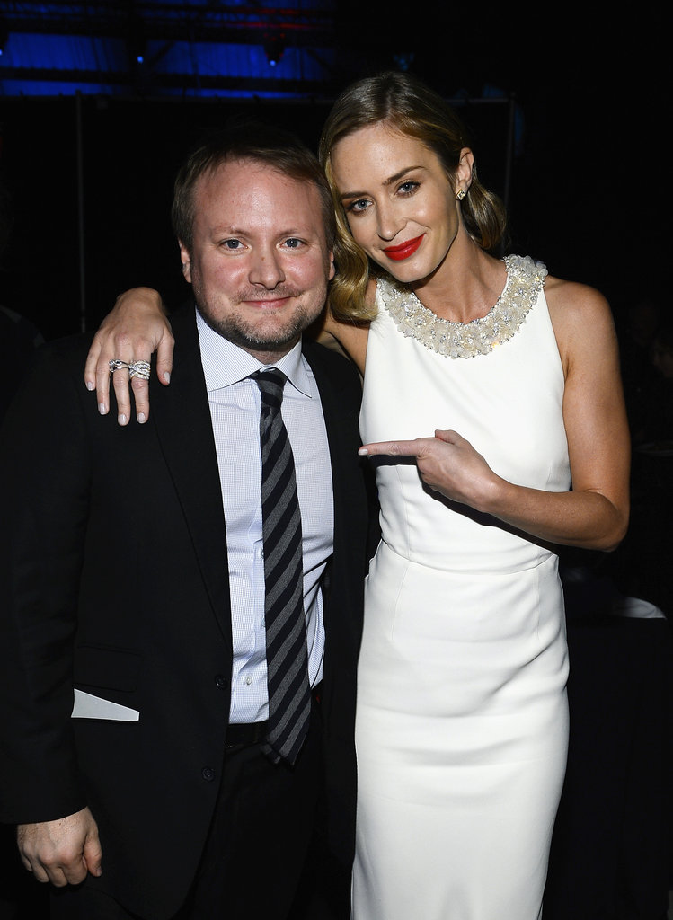 Rian Johnson and Emily Blunt