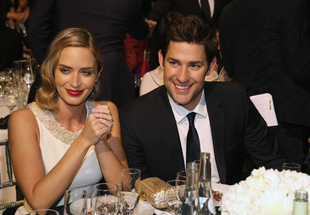 Cute couple Emily Blunt and John Krasinski were all smiles during the Critics' Choice Awards.