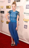 Amanda Seyfried wore a Marios Schwab dress on the Critics' Choice Awards red carpet.