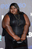 Gabourey Sidibe wore a black dress.