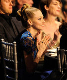 Amanda Seyfried cheered from the audience at the Critics' Choice Awards.