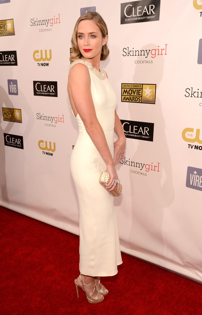 Emily Blunt posed on the Critics' Choice Awards red carpet.